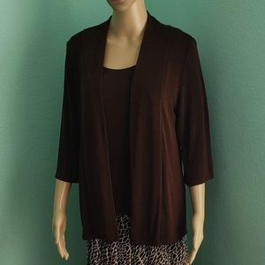 Chico's Travelers Cardigan (Cocoa Bean)